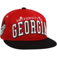 Zephyr Georgia Bulldogs Red-Black Superstar Snapback Adjustable Hat