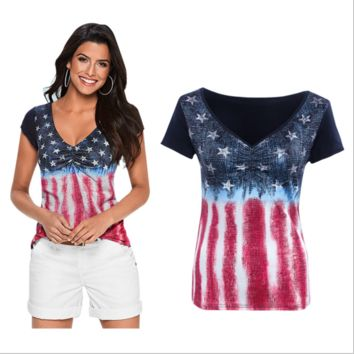 Flag Jeans Printed T-Shirt  B0015218
