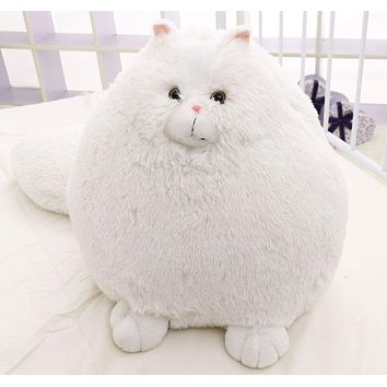 Free Shipping 50cm included tail Big size Persian Cat Plush Toy Persian Cat Soft Stuffed Doll Plush Gift White Cat Doll NEW