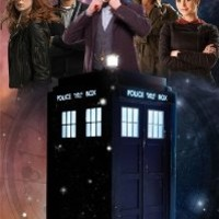 "Doctor Who - GLOW IN THE DARK - TV Show Poster (The Doctor, The Tardis & The Season 7 Team) (Amy, Rory, Clara, River Song & The Doctor) (Size: 24"" x 36"")"