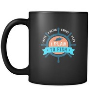 Grandparents I have a retirement plan I plan to fish 11oz Black Mug