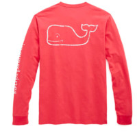 Vineyard Vines Vintage Graphic Whale Tee- Fire Cracker