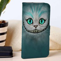Cheshire Cat | Disney | Movie | custom wallet case for iphone 4/4s 5 5s 5c 6 6plus case and samsung galaxy s3 s4 s5 s6 case