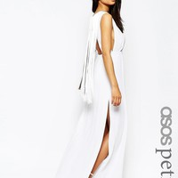 ASOS Petite | ASOS PETITE Fringe Back Maxi Dress at ASOS