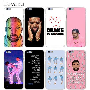 Lavaza Drake Hard Transparent Cover Case for iPhone X 10 8 7 6 6S Plus 5 5S SE 5C 4 4S