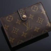 G3756 Authentic Louis Vuitton Monogram Viennois Bifold Wallet