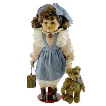 Boyds Bears Resin LAURA FIRST DAY OF SCHOOL Limited Edition Doll Bear 4903