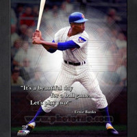 Ernie Banks Chicago Cubs Pro Quotes Framed 8x10 Photo