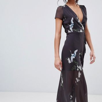 Hope & Ivy Floral Maxi Dress at asos.com