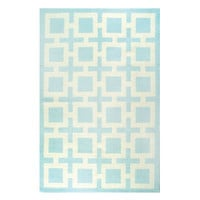 Jonathan Adler Light Blue Richard Nixon Rug in All Curiosities