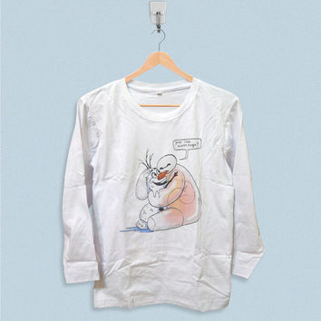 Long Sleeve T-shirt - Baymax and Olaf Big Hero 6