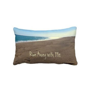 Run Away with me Beach Themed Throw Pillow from Zazzle.com