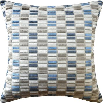 Jubilee Natural and Blue Decorative Pillow