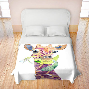 Artistic Duvet Covers by DiaNoche Designs, Giraffe