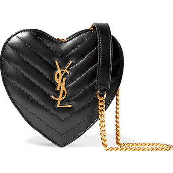 Saint Laurent - Love small quilted leather shoulder bag