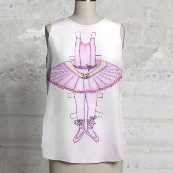 Ballerina Paper Doll Top