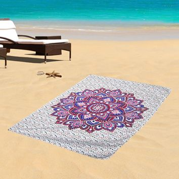 210X148 cm/130X148cm Mandala Towel Bedspread Shawl Indian Tapestry Bohemian Tapestry Wall Hanging Table Cloths