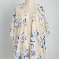 Under the Impressionism Cardigan | Mod Retro Vintage Short Sleeve Shirts | ModCloth.com