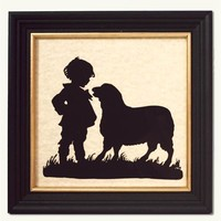 SILHOUETTE BOY AND LAMB