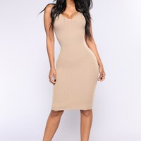 Joan Knit Dress - Khaki