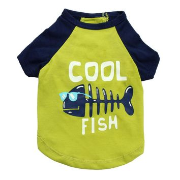 Cool Fish Cat Shirt in Green