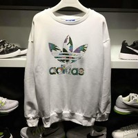 Adidas Fashion Crew neck Tops Sweater Pullover Sweatshirt