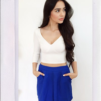 Rehab Clothing- Cobalt Play Mini Skirt