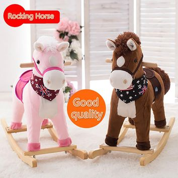 Plush Toy Creative Gift Classic Rocking Horse