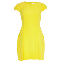 River Island Womens Yellow stepped hem shift dress
