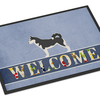 Siberian Husky Welcome Indoor or Outdoor Mat 18x27 BB5584MAT