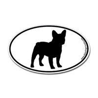 French Bulldog SILHOUETTE Oval Decal on CafePress.com