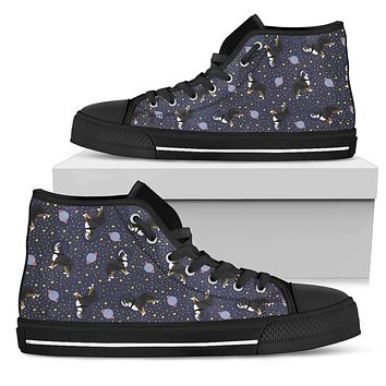 Space Bernese Mountain Dog High Tops