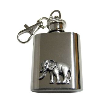 Textured Elephant 1 Oz. Stainless Steel Key Chain Flask