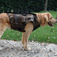 Dog Hunting Waistcoat Camouflage Neoprene Safety Vest for Dog Parka Camo Hunting Animal