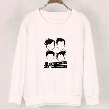 5 second of summer sweater White Sweatshirt Crewneck Men or Women for Unisex Size with variant colour