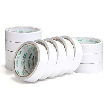 1 Pcs Deli 2.4cm*10y Super Slim Strong Adhesion White Double Sided Tape Doubles Faced Adhesive For Office Supplies