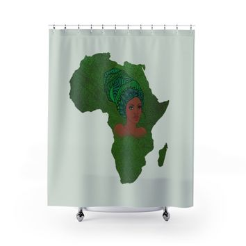 Green Mama Africa Shower Curtain
