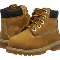 "Timberland Kids 6"" Premium Waterproof Boot Core (Toddler/Little Kid) Wheat Nubuck - Za"