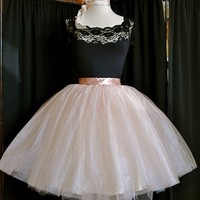 Chic Blush Pink Tutu  Custom length with extra layers by TutusChic