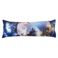 Blue Ice Christmas Ornament Body Pillow