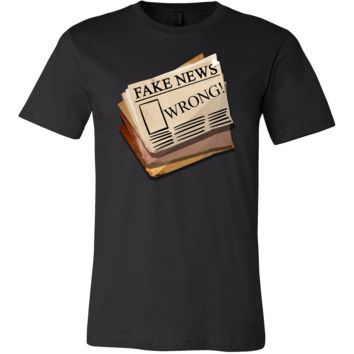 Funny Fake Newspaper Political Wrong News Stamped T-Shirt