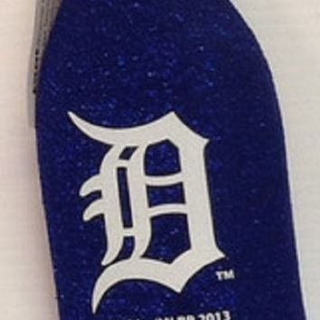 LMFON MLB Detroit Tigers Glitter Bottle Koozie-Glitter Navy