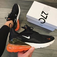 Nike Air Max 270 Trending Women Men Personality Air Cushion Sport Running Shoe Sneakers