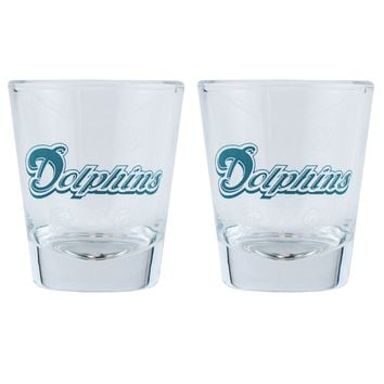 Boelter Shot Glasses 2 Pack  Miami Dolphins