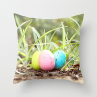 Hide and Seek Throw Pillow by Beth - Paper Angels Photography