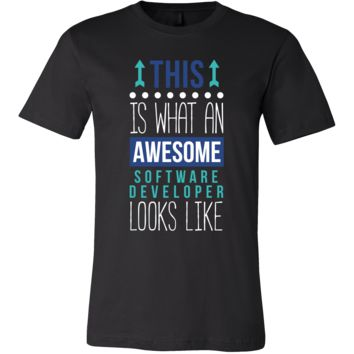 Software developer Shirt This is what an awesome Software developer looks like Profession Gift