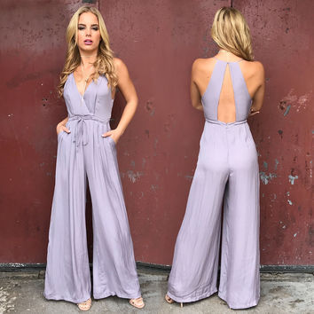 Graceful Lilac Jumpsuit