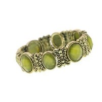 Pearly Olivine Vintage Stretch Bracelet: Jewelry: Amazon.com