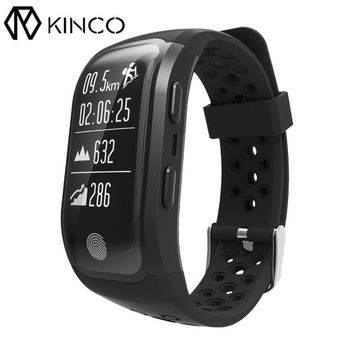 KINCO Bluetooth Waterproof GPS Heart Rate Monitor Bracelet Sedentary Distance Calorie Activity Monitor Smart Wristband for Phone