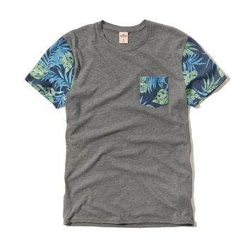 Palm Print Pocket Tee